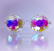 Load image into Gallery viewer, Kaleidoscope Crystal Fractal Rave Festival Glasses