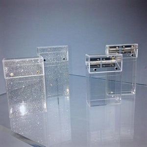 Bad Habitz ~ Clear or Glitter Cigarette, Business Card, Wallet or Joints Case - Kawaii - Y2K - 90's - Vintage