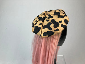 Oui 90's Y2K Bratz Spotted Animal Print French Beret Hat