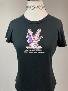 Y2K Happy Bunny Give Me Your Number Like I would Ever Call You T-Shirt