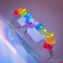 Load image into Gallery viewer, Festival Daydreams Rainbow Hologram Sparkle Heart Sunglasses