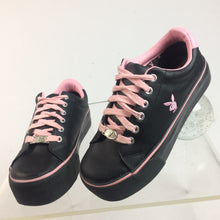 Load image into Gallery viewer, Y2K Playboy Bunny Black and Pink Logo Platform Sneakers