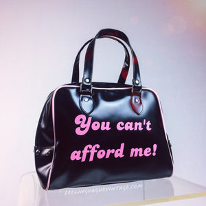 "Y2K ""You Can't Afford Me"" Vintage Vinyl Deadstock Purse"