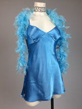 Load image into Gallery viewer, Angelic 90's Silky Blue Open Back Lingerie Mini Dress