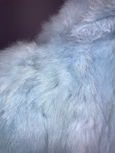 Load image into Gallery viewer, Vintage 90's Baby Blue Fur Coat // S - M