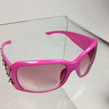 Load image into Gallery viewer, Y2k Pink Playboy Rhinestone Charm Embellished Sunglasses