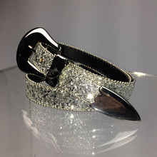 Load image into Gallery viewer, Western Glam Vintage Silver Glitter Belt
