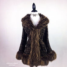 Load image into Gallery viewer, 90's does 70's Paisley Faux Fur Penny Lane Coat