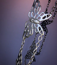 Load image into Gallery viewer, Vintage 90's does 70's Metal Butterfly Chain Belt