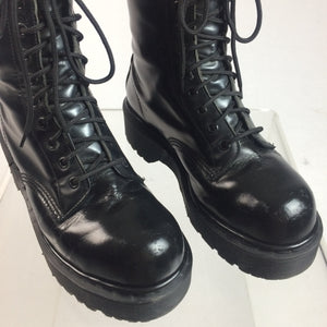 90's Platform Dr. Martens Steel Toe Leather Boots made in England // Men's 7