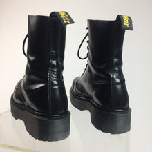 Load image into Gallery viewer, 90's Platform Dr. Martens Steel Toe Leather Boots made in England // Men's 7