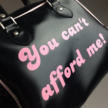 "Load image into Gallery viewer, Y2K ""You Can't Afford Me"" Vintage Vinyl Deadstock Purse"