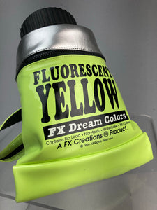 90's Vintage FX Dreamcolors Paint Tube Fluorescent Yellow Vinyl Novelty Art Backpack