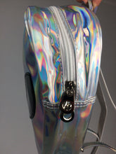 Load image into Gallery viewer, AREA 51 - 90's Clear Hologram Alien Face Vinyl Backpack