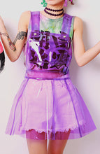 Load image into Gallery viewer, Life in Plastic its Fantastic Clear Vinyl Overalls Flare PVC Dress