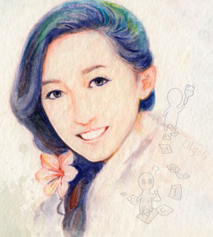 watercolor portrait of Lily