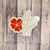 Butterfly Love Flower Sticker