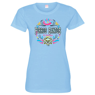 Charleston RiverDogs Perros Santos Women's Light Blue Tee