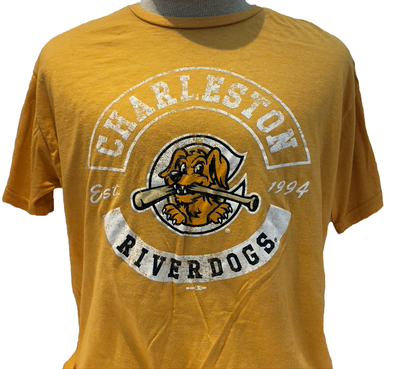 Charleston RiverDogs Retro Gold Tee