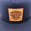 Charleston RiverDogs Leather Patch Trucker Cap