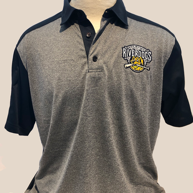 Charleston RiverDogs Primary Logo Gray/Navy Polo