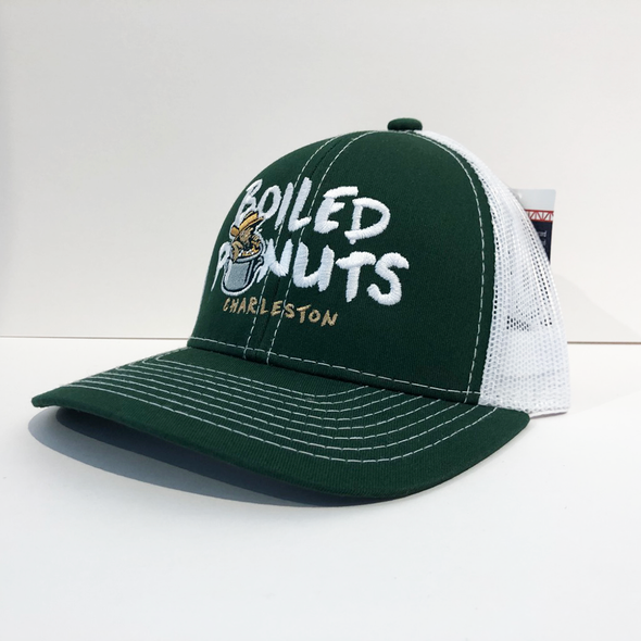 Charleston RiverDogs Youth Boiled Peanuts Green & White Mesh