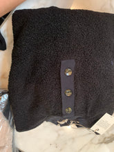 Load image into Gallery viewer, Donni mini sherpa henley sweatshirt