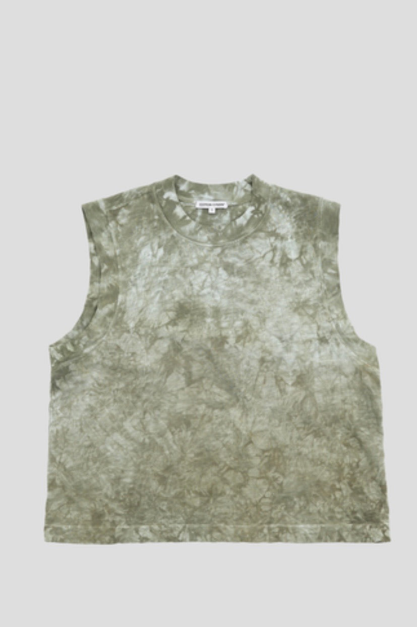 COTTON CITIZEN MUSCLE TEE BASIL CRYSTAL