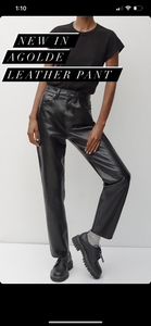 Agolde leather pant