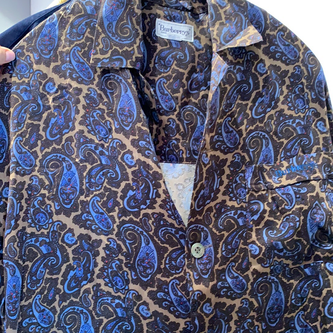 Vintage Burberry paisley button down