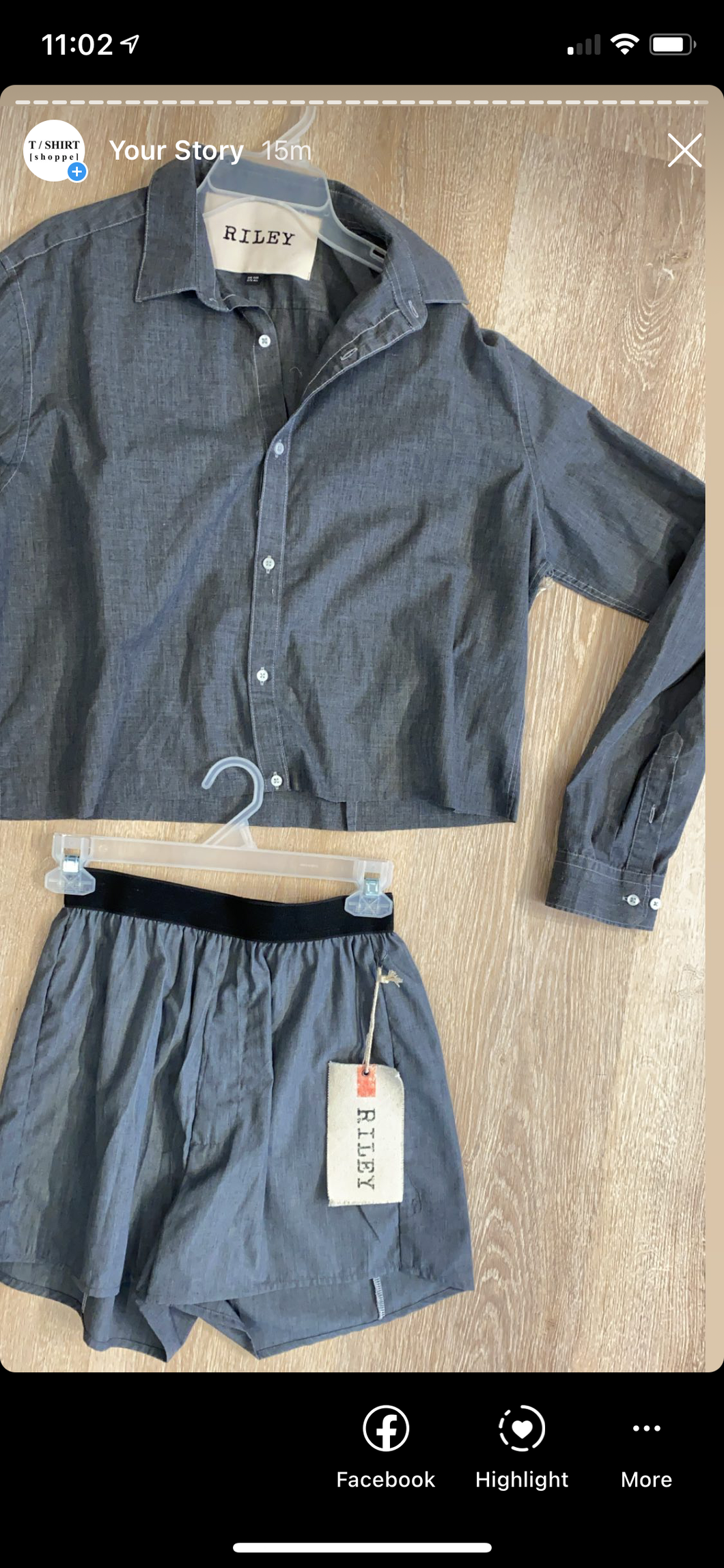 Riley  cropped button down charcoal and tie dye