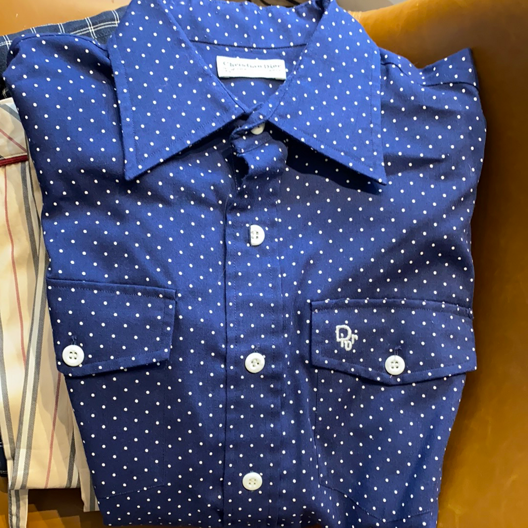 Vintage Dior polka dot button down