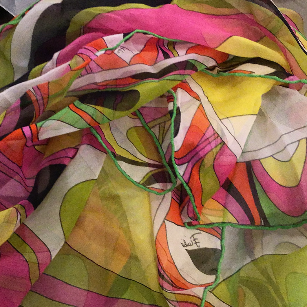 Pucci colorful sheer scarf