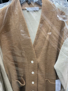 Tshirt shoppe cardigan tan cream