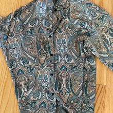 Load image into Gallery viewer, KT silk shirt button down