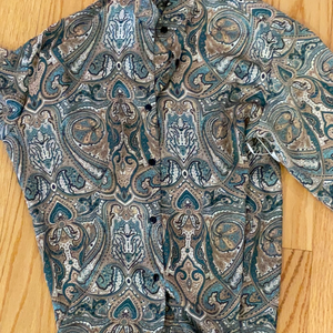 KT silk shirt button down
