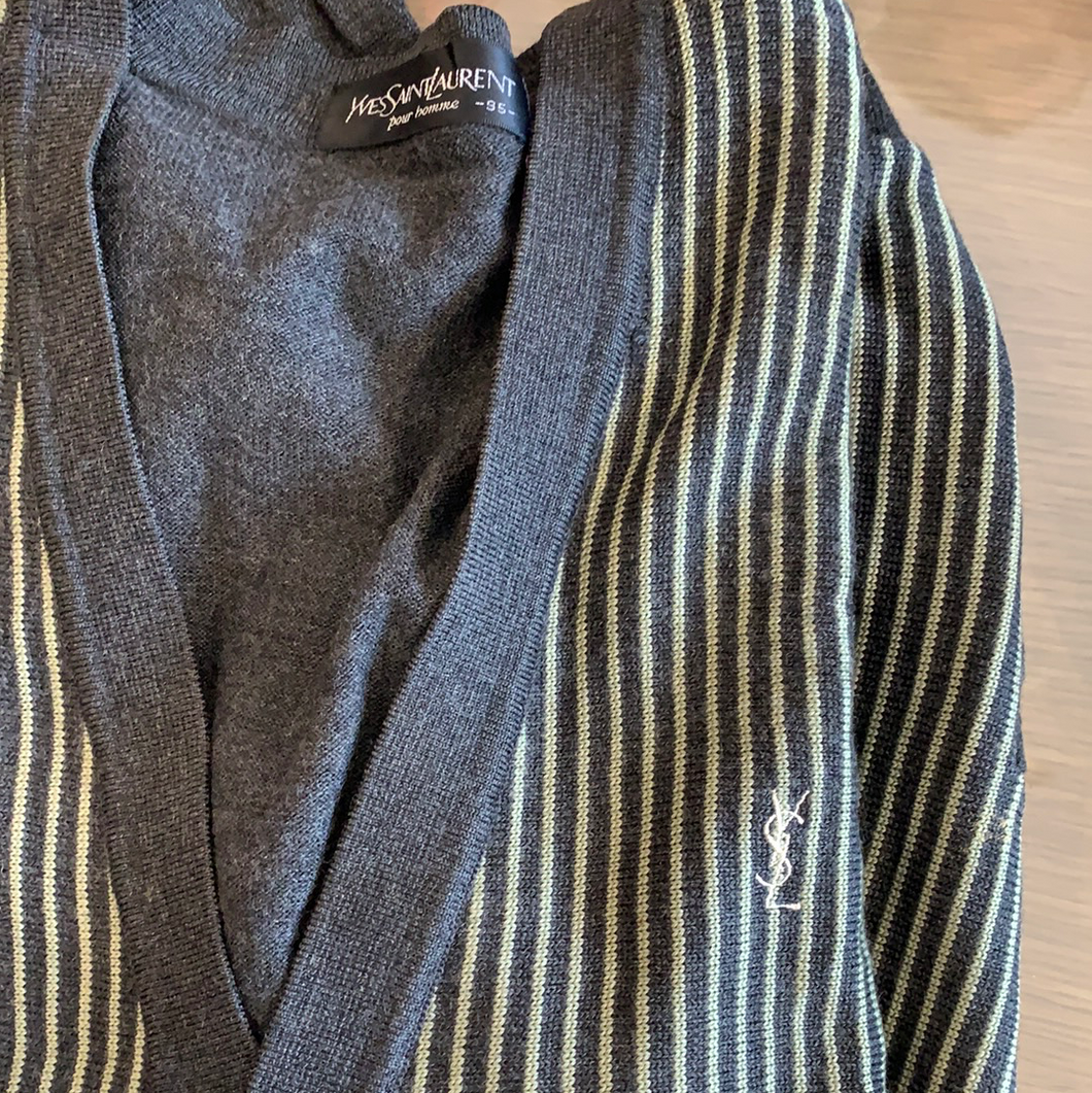 Vintage ysl stripped cardigan
