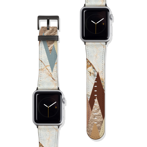 Geometric Marble Vegan Faux Leather Apple Watch Band Series 1 2 3 4 5 38mm 40mm 42mm 44mm | The Urban Flair