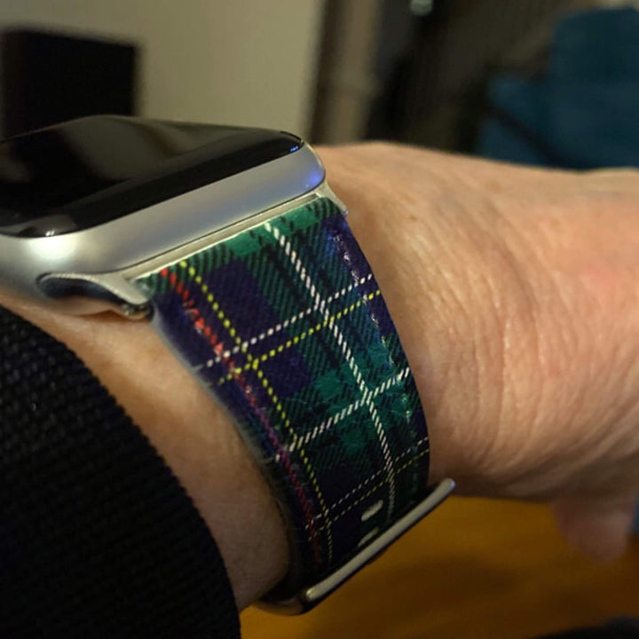 Green Lumberjack Plaid Tartan Vegan Leather Apple Watch Band 38mm 40mm | The Urban Flair