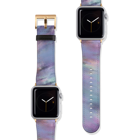 Pastel Purple Tie Dye Vegan Faux Leather Apple Watch Band Series 1 2 3 4 5 38mm 40mm 42mm 44mm | The Urban Flair