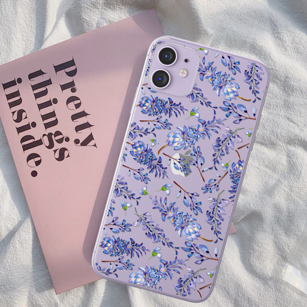 Lavender Clear Phone Case For Purple iPhone 11 at The Urban Flair