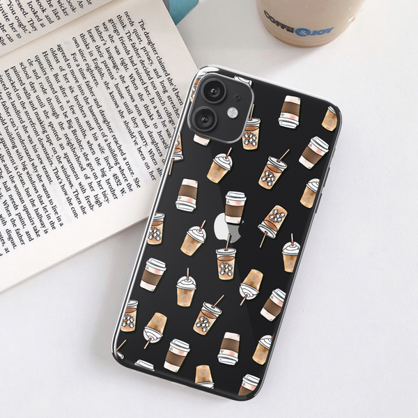 Coffee Clear Phone Case For Black iPhone 11 at The Urban Flair