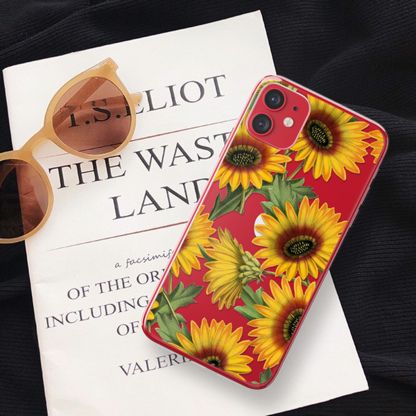 Vintage Sunflower Clear Phone Case For Red iPhone 11 From The Urban Flair