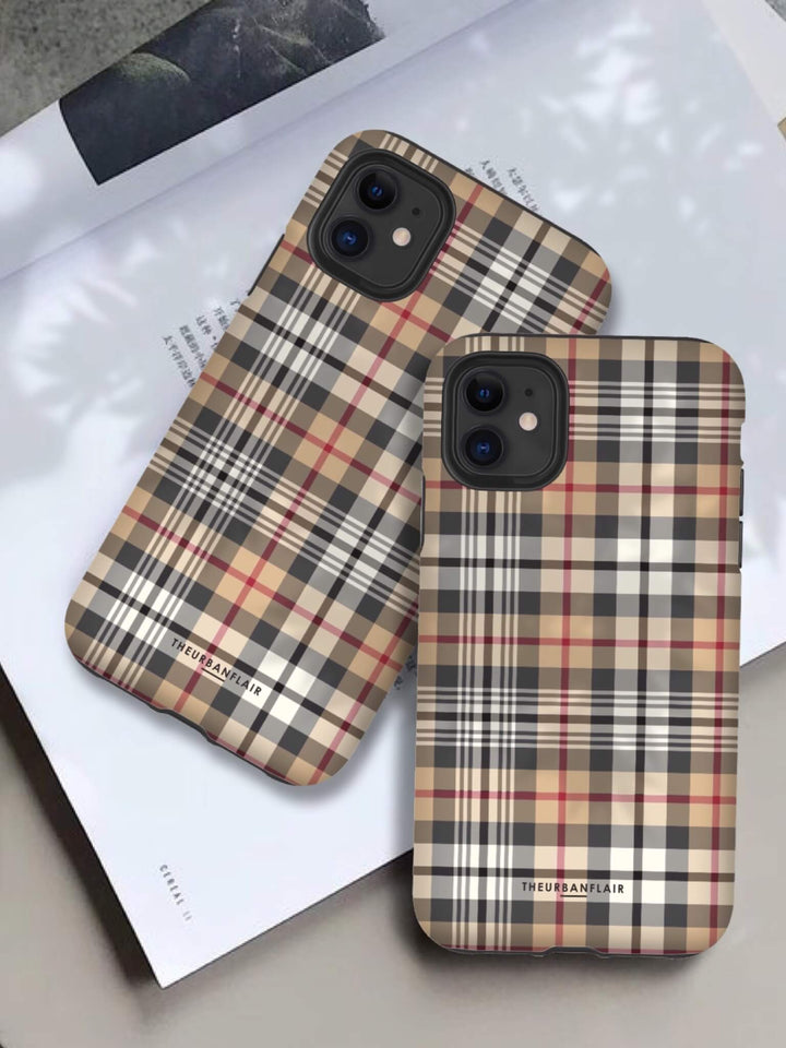 Classic Designer Plaid Tartan Tough iPhone 11 Protective Phone Case | The Urban Flair