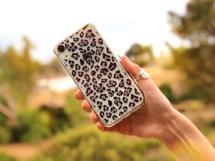 Leopard Cheetah Animal Print Clear iPhone XR Phone Case | The Urban Flair
