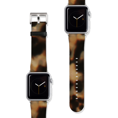 Tortoise Shell Print Vegan Faux Leather Apple Watch Band Series 1 2 3 4 5 38mm 40mm 42mm 44mm | The Urban Flair