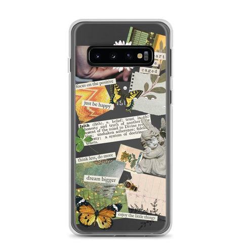 Aesthetic Scrap Collage Clear Phone Case Galaxy S10