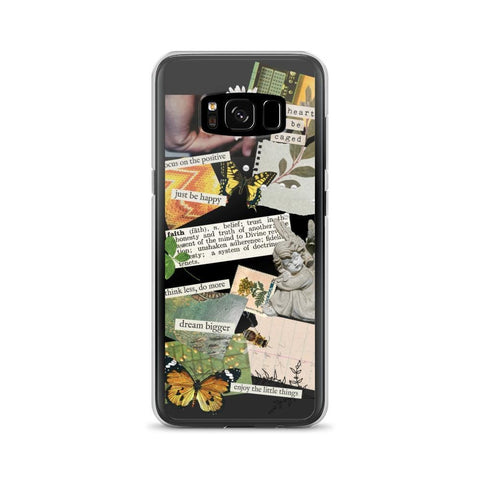 Aesthetic Scrap Collage Clear Phone Case Galaxy S8