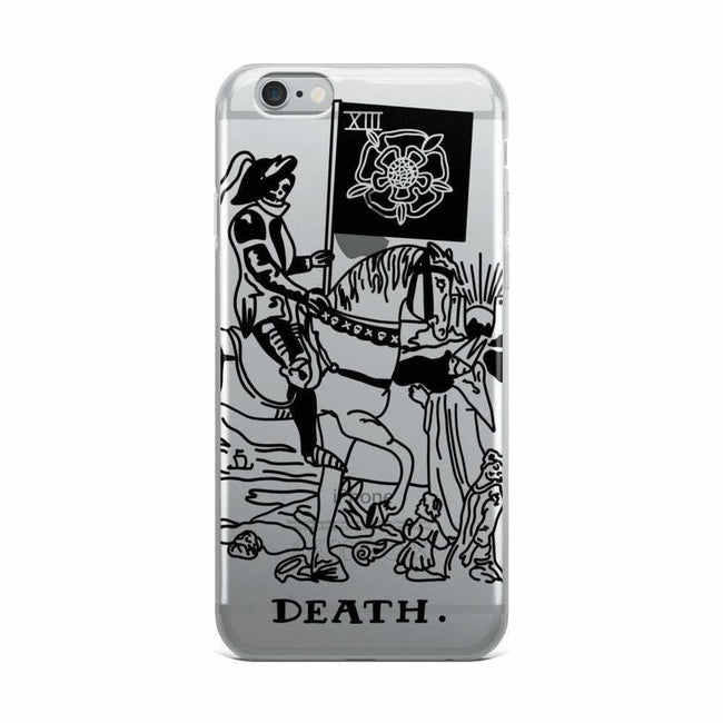 Death Tarot Card Clear Phone Case - Iphone 6 Plus/6S Plu / Black