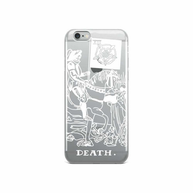 Death Tarot Card Clear Phone Case - Iphone 6/6S / White